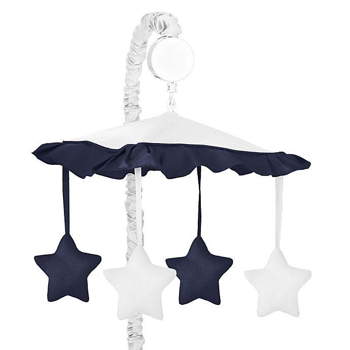 Alternate image 1 for Sweet Jojo Designs Hotel Musical Mobile in White/Navy