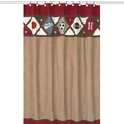 Sweet Jojo Designs All Star Sports Collection Shower Curtain