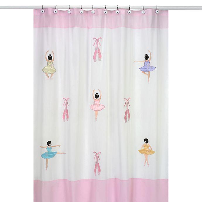 Sweet Jojo Designs Ballerina Collection Shower Curtain