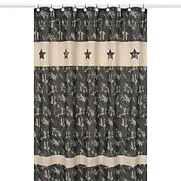 Sweet Jojo Designs Green Camo Collection Shower Curtain