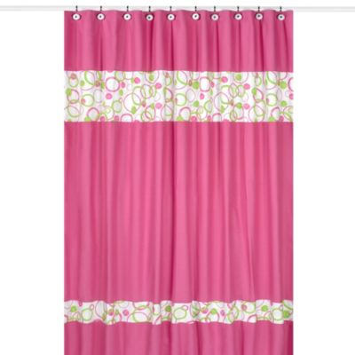 sweet jojo designs pink and green mod circles collection shower curtain bed bath beyond. Black Bedroom Furniture Sets. Home Design Ideas