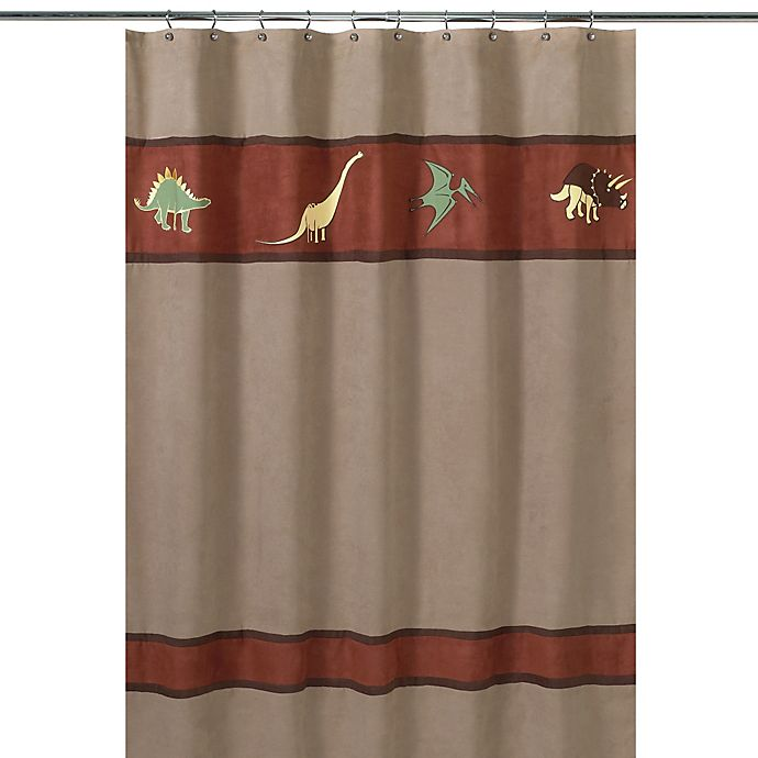 Sweet Jojo Designs Dinosaur Land Collection Shower Curtain ...