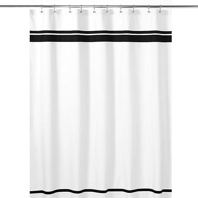 Alternate image 1 for Sweet Jojo Designs Hotel Shower Curtain in White/Black