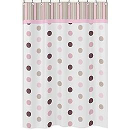 Sweet Jojo Designs Mod Dots Shower Curtain in Pink