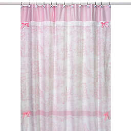 Sweet Jojo Designs Toile Shower Curtain in Pink