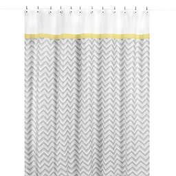 Sweet Jojo Designs Zig Zag Shower Curtain in Yellow and Grey