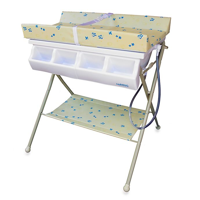 Alternate image 1 for Baby Diego Standard Bath Tub  & Changer Combo in Beige
