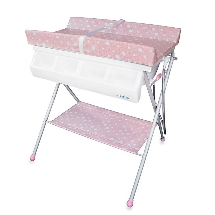 Alternate image 1 for Baby Diego Standard Bath Tub & Changer Combo in Pink