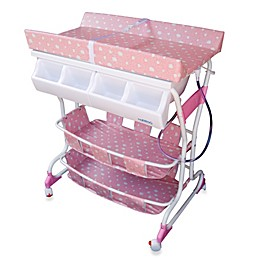 Baby Diego Deluxe Bath Tub & Changer Combo in Pink