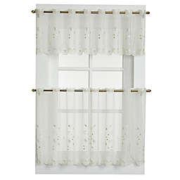 Samantha Sheer Window Curtain Valance in Ecru