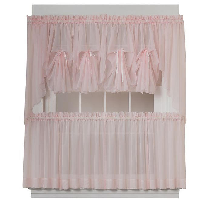 Alternate image 1 for Emelia Window Curtain Fan Valance in Rose