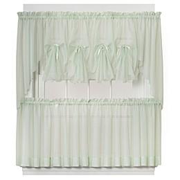 Emelia Window Curtain Swag Valance in Sage