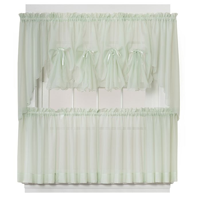 Alternate image 1 for Emelia Window Curtain Swag Valance in Sage