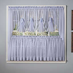 Emelia Window Curtain Tier Pairs and Valance in Sky Blue