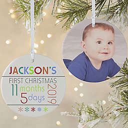 Baby's 1st Christmas Personalized 2-Sided Matte Christmas Ornament