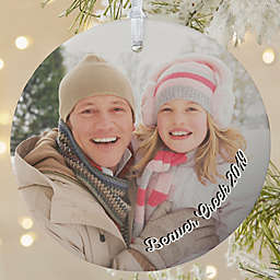 Precious Memories Round Matte Photo Christmas Ornament