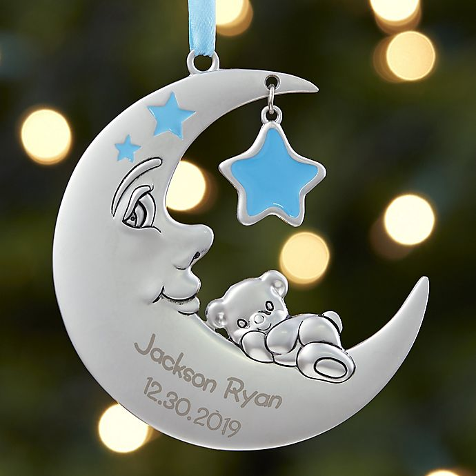 Alternate image 1 for Baby's 1st Christmas Moon Boy Christmas Ornament