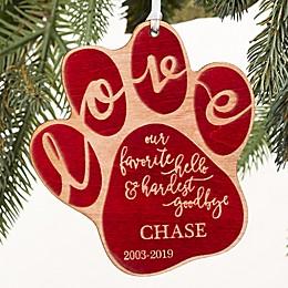 Hardest Goodbye Pet Memorial Ornament