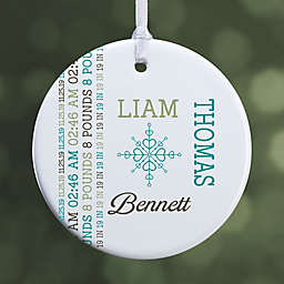 1-Sided Darling Baby Glossy Christmas Ornament
