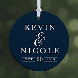 1-Sided Glossy All About the Big Day Personalized Ornament- Small