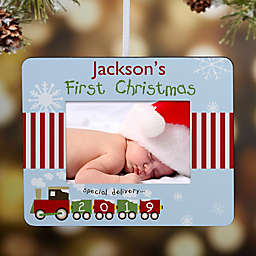 First Christmas Personalized Mini-Frame Christmas Ornament