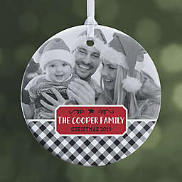 1-Sided Glossy Farmhouse Personalized Christmas Ornament- Small