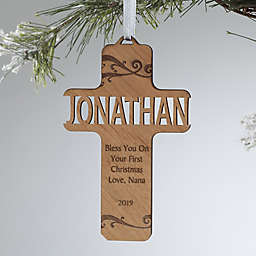 Bless This Child Personalized Wood Ornament