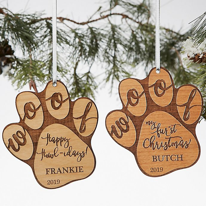 Alternate image 1 for Happy Howlidays Wood Dog Ornament