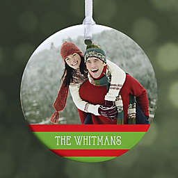 Classic Christmas Photo 1-Sided Glossy Christmas Ornament