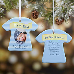 2-Sided It's A Boy or Girl Photo Christmas Ornament