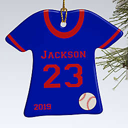 Baseball Sports Jersey T-Shirt 1-Sided Christmas Ornament