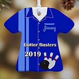 Bowling T-Shirt 1-Sided Christmas Ornament