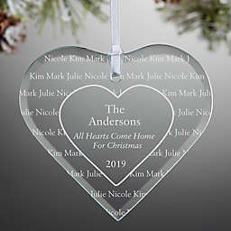 All Hearts Come Home Engraved Christmas Ornament