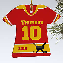 Hockey Sports Jersey T-Shirt 1-Sided Christmas Ornament