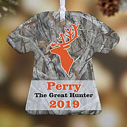 Deer Hunter T-Shirt 1-Sided Christmas Ornament