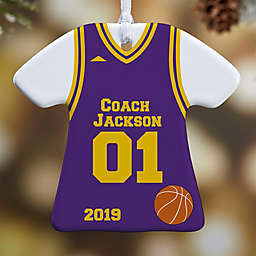 #1 Coach Jersey T-Shirt 1-Sided Christmas Ornament