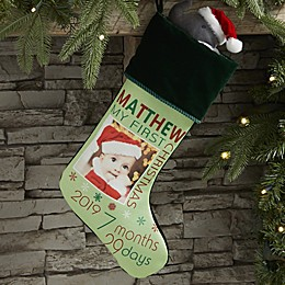 Baby's First Christmas Personalized Photo Stocking