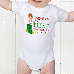 First Christmas Character Personalized Baby Bodysuit
