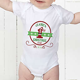 Santa Loves Me Personalized Baby Bodysuit