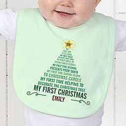 Baby's 1st Christmas Tree Baby Bib