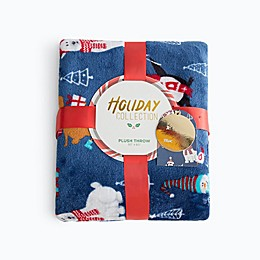 Outdoor Christmas Party Plush Throw Blanket