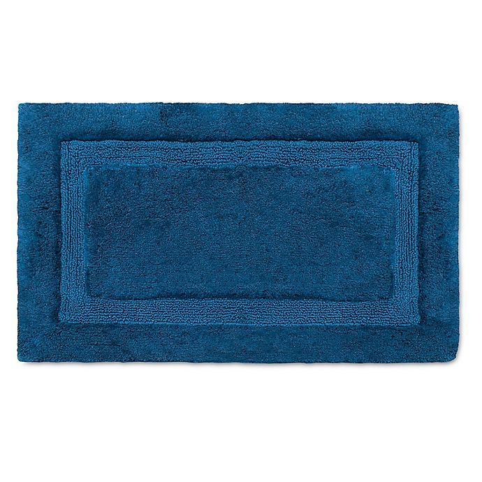 Alternate image 1 for Wamsutta® Luxury 21-Inch x 34-Inch Border Plush MicroCotton Bath Rug