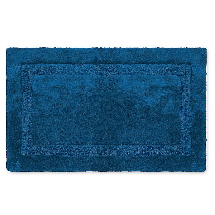 Alternate image 1 for Wamsutta® Luxury 24-Inch x 40-Inch Border Plush MicroCotton Bath Rug
