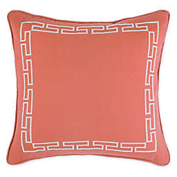 Wamsutta® Meader Key Square Throw Pillow in Coral