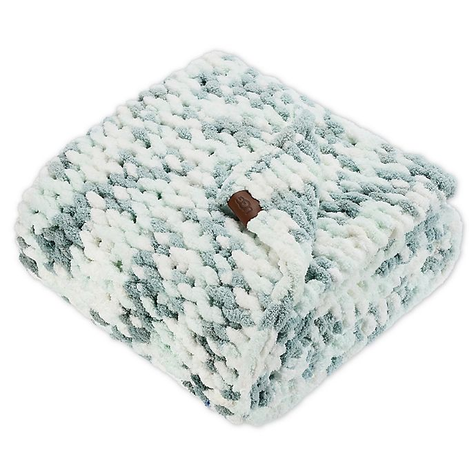 Alternate image 1 for UGG® Fermont Chenille Throw Blanket in Blue Crush