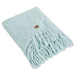 UGG® Lexi Faux Fur Throw Blanket in Blue Crush