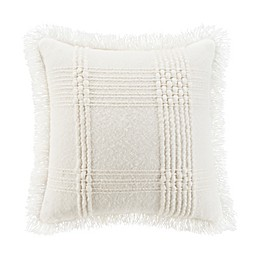 UGG® Jordy Chunky Woven Square Throw Pillow in Snow