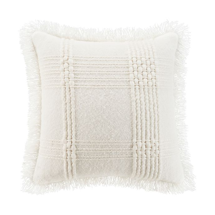 Alternate image 1 for UGG® Jordy Chunky Woven Square Throw Pillow in Snow
