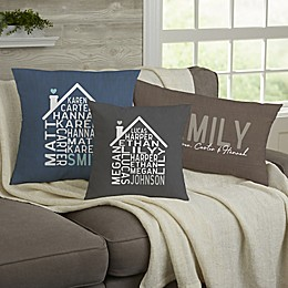 Family Home Personalized Throw Pillow Collection