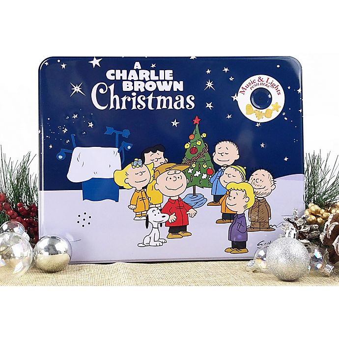 Alternate image 1 for Peanuts™ & Friends Christmas Cookies Gift Cookie Tin